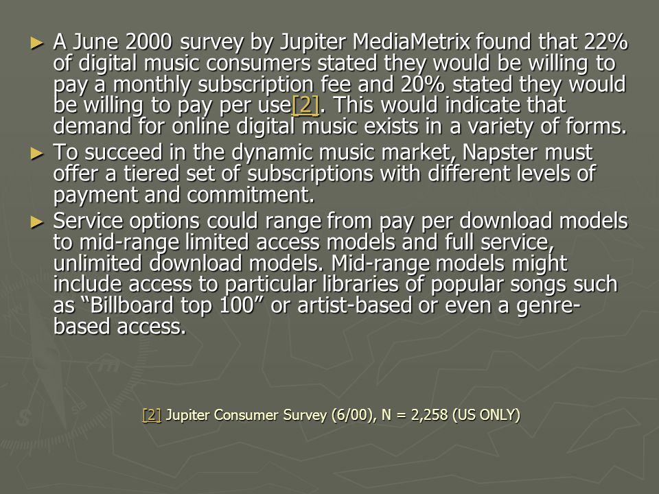 [2] Jupiter Consumer Survey (6/00), N = 2,258 (US ONLY)